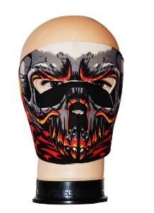 MASQUE DE PROTECTION NEOPRENE GRAND CRANE AVEC FLAMMES