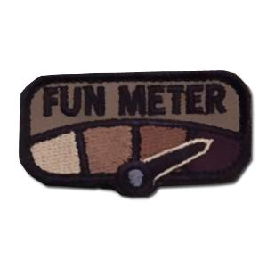 ÉCUSSON OU PATCH PETITE TAILLE FUN METER FOREST MARRON MSM
