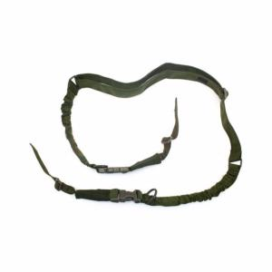 SANGLE 2 POINTS ELASTIQUE VERT OLIVE BUNGEE 1000D NUPROL