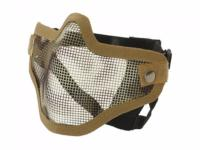 MASQUE DE PROTECTION DEMI GRILLAGE ACIER G2 CAMOUFLAGE WOODLAND TAN