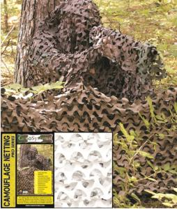 FILET DE CAMOUFLAGE CAMO SYSTEMS BLANC 6M X 2.4 M ANTI-FEU