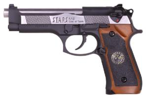 M92 SAMURAI EDGE BIOHAZARD FULL METAL CO2 BLOW BACK NOIR CHROME ET MARRON WE 1 JOULE