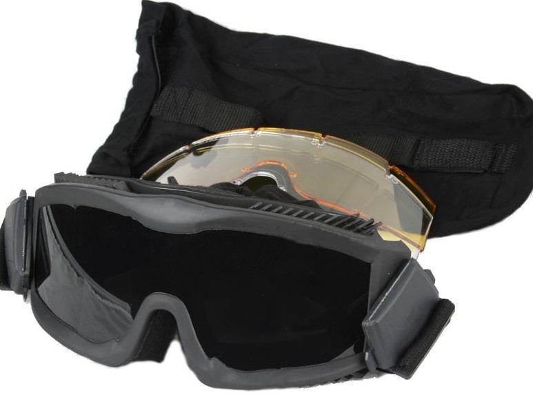 bd2501 lunette masque protection razor noir ecrans. Black Bedroom Furniture Sets. Home Design Ideas