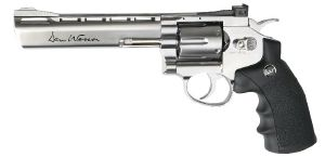 DAN WESSON REVOLVER 6 POUCES CO2 CHROME METAL 1.9 JOULE AVEC RAIL