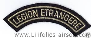 ECUSSON OU PATCH DE LA LEGION ETRANGERE DORE A SCRATCHER