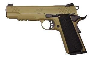R28 VERSION B KIMBER TAN GAZ BLOW BACK FULL METAL SEMI AUTO HOP UP 0.85 JOULE
