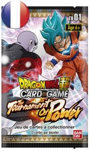 BOOSTER DE 12 CARTES SUPPLEMENTAIRES DRAGON BALL Z SUPER CARD GAME THE TOURNAMENT OF POWER TB01