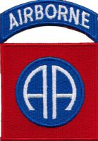 ECUSSON OU PATCH US ARMY AIRBORNE BRODE THERMO COLLANT