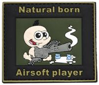 PATCH / ECUSSON 3D PVC SCRATCH NATURAL BORN AIRSOFT PLAYER