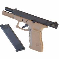 STARK ARMS S18C GAZ BLOWBACK FULL-SEMI AUTO GBB TAN + SON CANON SUPPLEMENTAIRE METAL