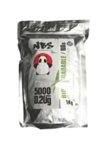 SACHET DE 5000 BILLES BLANCHES BIODEGRADABLES 0.20G NBS