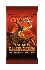 1 BOOSTER DE 15 CARTES SUPPLEMENTAIRES L'AGE DE LA DESTRUCTION DE MAGIC THE GATHERING