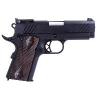 MINI 1911 TYPE B WE GAZ BLOWBACK FULL METAL HOP UP NOIR ET MARRON 0.8 JOULE