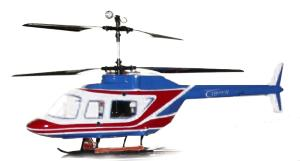 HELICOPTERE SUPERFLY 40.A RADIOCOMMANDE BLEU ET ROUGE