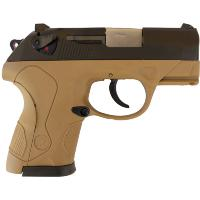 PX4 COMPACT BULLDOG WE TAN ET NOIR GAZ BLOWBACK HOP UP 0.9 JOULE AVEC 3 GRIPS ROSE ET 3 GRIPS TAN