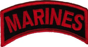 ECUSSON OU PATCH MARINES BRODE THERMO COLLANT