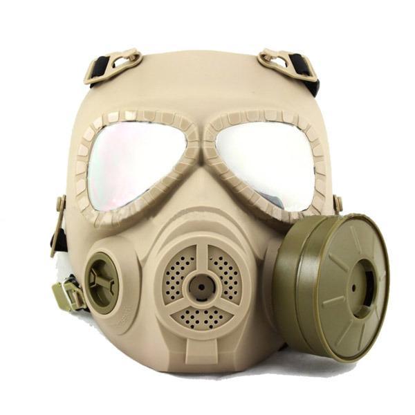 masque de protection visage a gaz m04 sable optronics hmg0197 airsoft ventilateur anti buee. Black Bedroom Furniture Sets. Home Design Ideas