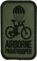 PATCH / ECUSSON TISSU THERMOCOLLANT AIRBORNE PARATROOPER VERT