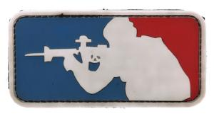 ECUSSON / PATCH 3D PVC SCRATCH MAJOR LEAGUE BLEU BLANC ET ROUGE
