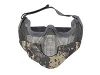 MASQUE DE PROTECTION DEMI GRILLAGE ACIER CAMO DIGITAL GRAND MODELE