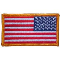 LOT DE 2 ECUSSONS 1 GAUCHE ET 1 DROIT / PATCHS DRAPEAUX US UNITED STATES THERMO COLLANT