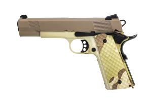1911 MEU RAVEN GAZ BLOWBACK FULL METAL HYDRO CAMO / TAN 1 JOULE