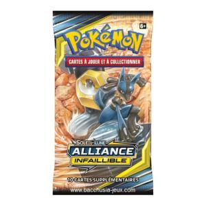 1 PAQUET DE 10 CARTES BOOSTER SUPPLEMENTAIRES POKEMON SL10 SOLEIL ET LUNE ALLIANCE INFAILLIBLE