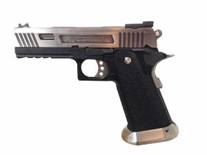 HI-CAPA 4.3 SILVER ET NOIR ALLOSAURUS GAZ BLOWBACK 0.9 JOULE WE
