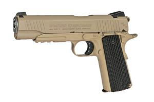 PISTOLET AIRGUN SA1911 MILTARY TAN SWISS ARMS CO2 BLOWBACK FULL METAL 1.6 JOULE SEMI AUTO 4.5 MM