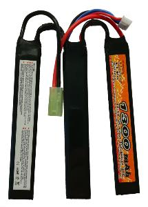 BATTERIE LIPO 11.1V 1300 MAH 15C/BURST 30C 3 STICKS VB POWER