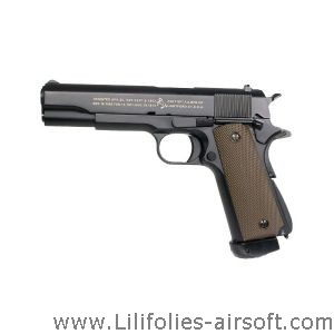COLT M 1911 A1 CO2 FULL METAL CULASSE MOBILE BLOWBACK KJWORKS 1 JOULE