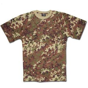 TEE SHIRT CAMOUFLAGE VEGETATO WOODLAND COL ROND ET MANCHES COURTES