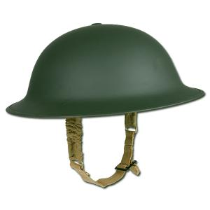 "CASQUE MILITAIRE ANGLAIS "" BRODIE "" MK2 METAL VERT OLIVE ( REPRODUCTION )"