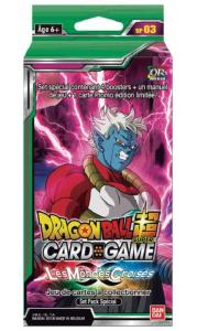 DRAGON BALL SUPER CARD GAME - PACK SPECIAL DE 4 BOOSTERS DE 12 CARTES LES MONDES CROISES - SP03