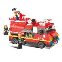 JEU DE CONSTRUCTION BRIQUE EMBOITABLE SLUBAN FIRE CAMION DE POMPIER M38-B0220 FIGURINES ARTICULES