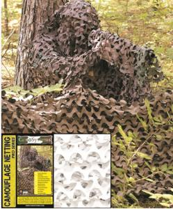 FILET DE CAMOUFLAGE CAMO SYSTEMS BLANC 3M X 2.4 M ANTI-FEU