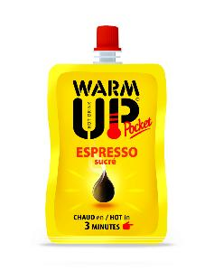 PACK DE 6 BOISSONS EN GOURDE AUTO CHAUFFANTES WARM UP POCKET 50 ML - EXPRESSO SUCRE