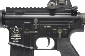 FUSIL D'ASSAUT BOLT B4 SOPMOD SHORTY AEG METAL BLOWBACK NOIR SEMI ET FULL AUTO
