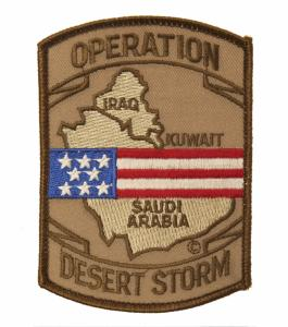 ECUSSON / PATCH BRODE OPERATION DESERT STORM USA TAN