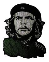 PATCH / ECUSSON TISSU THERMOCOLLANT PORTRAIT DE CHE GUEVARA VERT