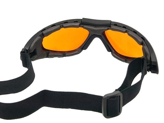 lunette masque protection oculaire ecran jaune orange avec. Black Bedroom Furniture Sets. Home Design Ideas