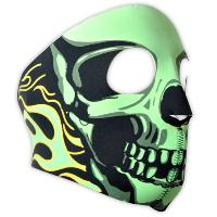 MASQUE DE PROTECTION NEOPRENE INTEGRAL TETE DE MORT VERT DMONIAC