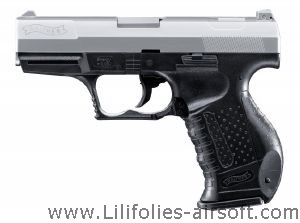 P99 WALTHER BICOLORE SPRING UMAREX SHOOT UP 0.5 JOULE