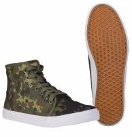 PAIRE DE CHAUSSURES MONTANTES CAMOUFLAGE FLECKTARN TAILLE 38