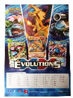 POSTER POKEMON EVOLUTIONS 29.5 CM X 42 CM