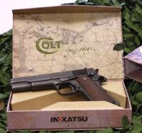 COLT M1911 INOKATSU CO2 FULL ACIER NOIR BLOW BACK SEMI AUTOMATIQUE 0.8 JOULE