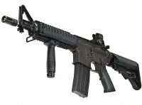 LE COLT M4 CQB-R GAZ BLOWBACK SEMI ET FULL AUTO NOIR ( KING ARMS ) 1.6 JOULE