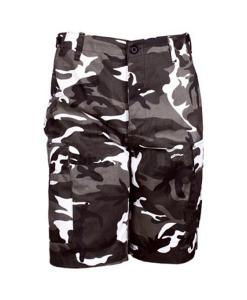 BERMUDA US MULTIPOCHES CAMOUFLAGE URBAN TAILLE S