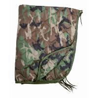 PONCHO LINER / COUVERTURE MATELASSEE 210 X 150 CM CAMOUFLAGE WOODLAND