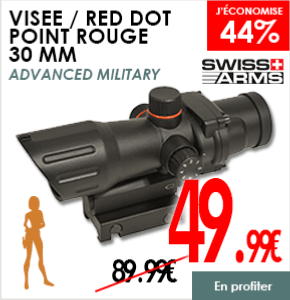 VISEE RED DOT POINT ROUGE SWISS ARMS